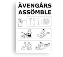 Superheroes Assembling Canvas Print