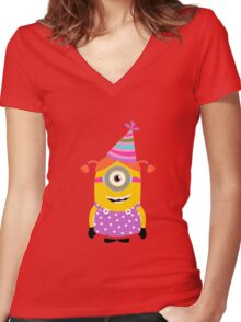beauty minion Women's Fitted V-Neck T-Shirt