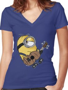 dave and gitar Women's Fitted V-Neck T-Shirt