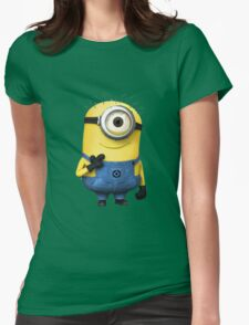 hey minion Womens Fitted T-Shirt