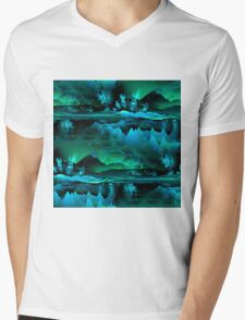 Residual Worlds (green) Mens V-Neck T-Shirt