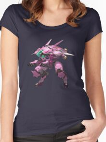 D.VA Women's Fitted Scoop T-Shirt