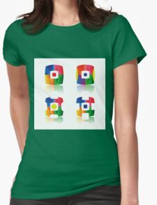 set of icons Womens Fitted T-Shirt