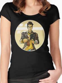 Borderlands 2 - Handsome Jack Art Women's Fitted Scoop T-Shirt