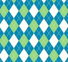 Green and Blue Argyle by BuzzEdition