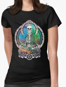 Cosmic Starving Buddha Womens Fitted T-Shirt