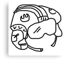 Rebel Pilot Helmet  Canvas Print