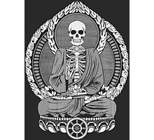 Skeleton Buddha White Halftone Photographic Print
