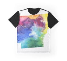 Watercolor Map of Arkansas, USA in Rainbow Colors - Giclee Print of My Own Watercolor Painting Graphic T-Shirt