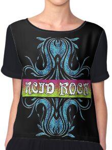 ACID ROCK - black background Chiffon Top