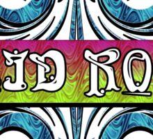 ACID ROCK - black background Sticker