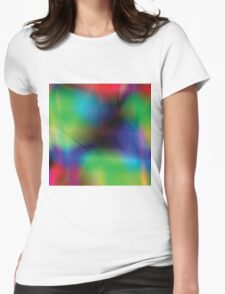 vibrant abstract background Womens Fitted T-Shirt