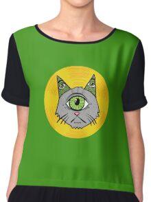 Illuminati Cyclops Money Cat, alone! Chiffon Top