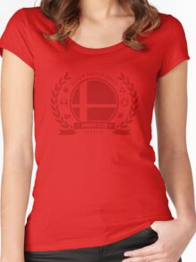 Smash Club -(Red) Women's Fitted Scoop T-Shirt