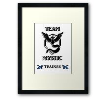 Team Mystic Black Logo 8 Bit Framed Print