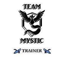 Team Mystic Black Logo 8 Bit Photographic Print