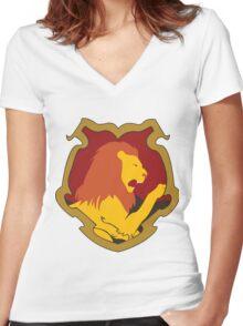 Gryffindor House Crest Women's Fitted V-Neck T-Shirt