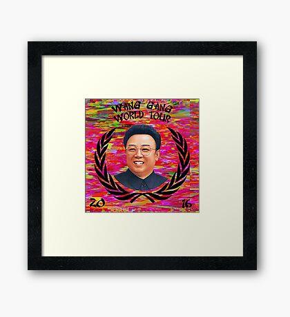 Wang Gang World Tour II Framed Print