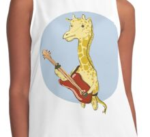 Giraffes Love Music Contrast Tank