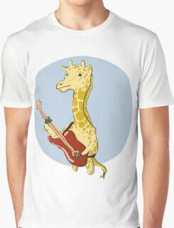 Giraffes Love Music Graphic T-Shirt