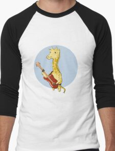 Giraffes Love Music Men's Baseball ¾ T-Shirt