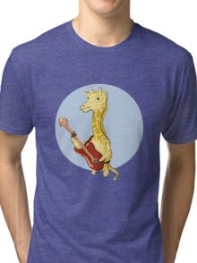 Giraffes Love Music Tri-blend T-Shirt