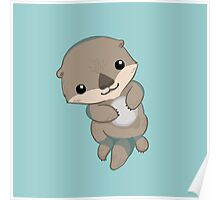 Cute Otter Pup Poster