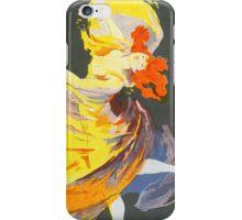 Vintage Jules Cheret 1896 La Loie Fuller iPhone Case/Skin