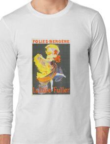 Vintage Jules Cheret 1896 La Loie Fuller Long Sleeve T-Shirt