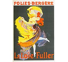 Vintage Jules Cheret 1896 La Loie Fuller Photographic Print