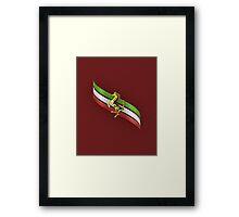 Ferrari Lover #2 [Gold - Red] Framed Print