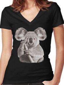 SAVE THE KOALA Women's Fitted V-Neck T-Shirt