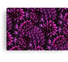 Cactus Floral - Purple Canvas Print