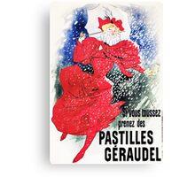 Vintage Jules Cheret 1895 Pastilles Geraudel Canvas Print