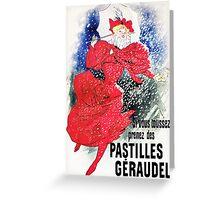 Vintage Jules Cheret 1895 Pastilles Geraudel Greeting Card
