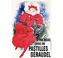 Vintage Jules Cheret 1895 Pastilles Geraudel Photographic Print