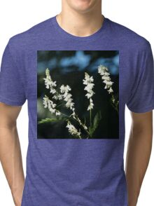 White Flowers Tri-blend T-Shirt