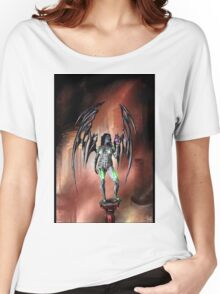 Robot Angel Painting 022 Women's Relaxed Fit T-Shirt