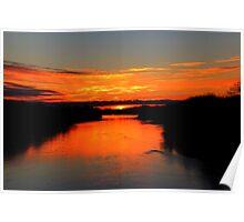 Sunrise on the Assiniboine Poster