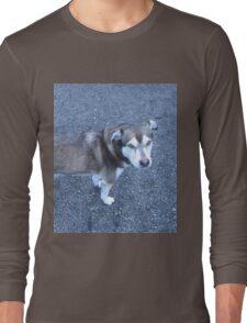 Cute Half Dog Long Sleeve T-Shirt
