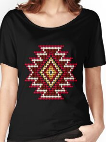 Red Native American Southwest-Style Sunburst Women's Relaxed Fit T-Shirt