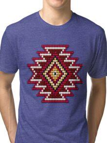 Red Native American Southwest-Style Sunburst Tri-blend T-Shirt