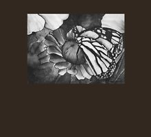 Butterfly on Flower Womens Fitted T-Shirt