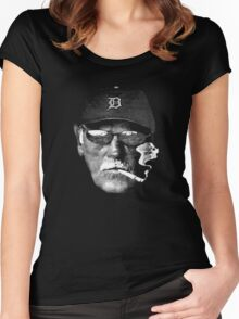 Cigarette Smoking Jim Leyland Women's Fitted Scoop T-Shirt