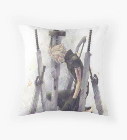 Cloud Strife Final Fantasy VII Throw Pillow