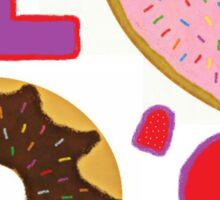 I Love Donuts Sticker