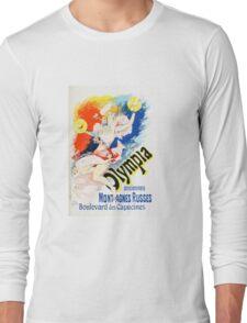Vintage Jules Cheret 1896 Olympia Long Sleeve T-Shirt