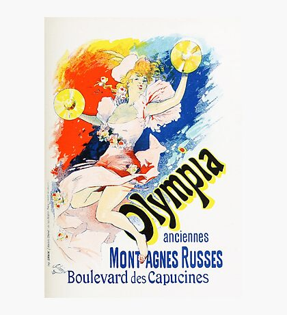 Vintage Jules Cheret 1896 Olympia Photographic Print
