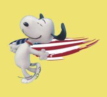Snoopy With The American Flag copy Baby Tee