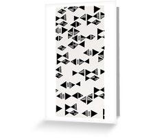 Triangle art Greeting Card